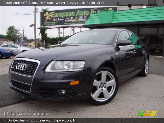 oyster grey metallic 2008 audi a6 3 2 quattro sedan light grey interior. Black Bedroom Furniture Sets. Home Design Ideas