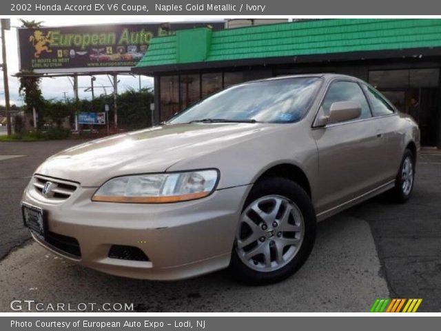 naples gold metallic 2002 honda accord ex v6 coupe ivory interior vehicle. Black Bedroom Furniture Sets. Home Design Ideas
