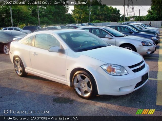 summit white 2007 chevrolet cobalt ss coupe ebony. Black Bedroom Furniture Sets. Home Design Ideas