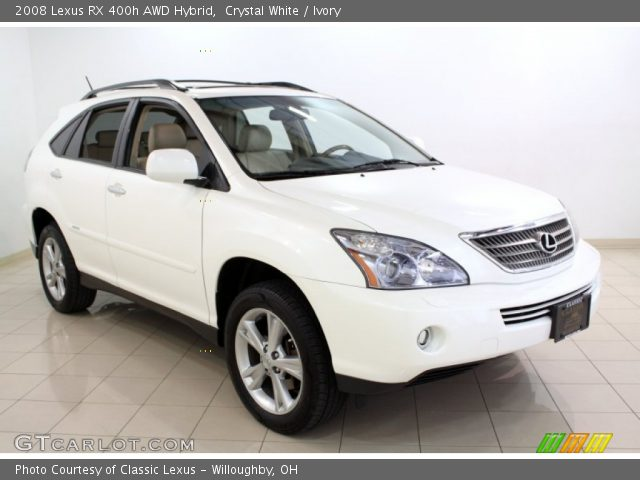crystal white 2008 lexus rx 400h awd hybrid ivory. Black Bedroom Furniture Sets. Home Design Ideas