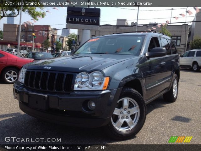 steel blue metallic 2007 jeep grand cherokee laredo 4x4 medium slate gray interior. Black Bedroom Furniture Sets. Home Design Ideas