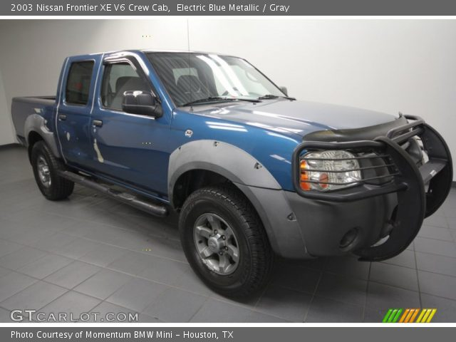 electric blue metallic 2003 nissan frontier xe v6 crew. Black Bedroom Furniture Sets. Home Design Ideas