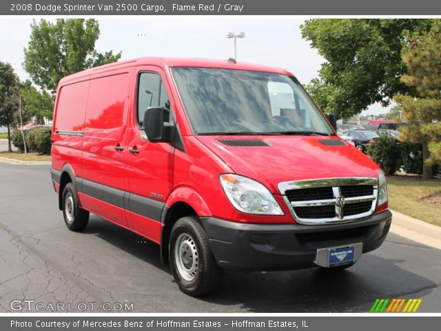 flame red 2008 dodge sprinter van 2500 cargo gray. Black Bedroom Furniture Sets. Home Design Ideas