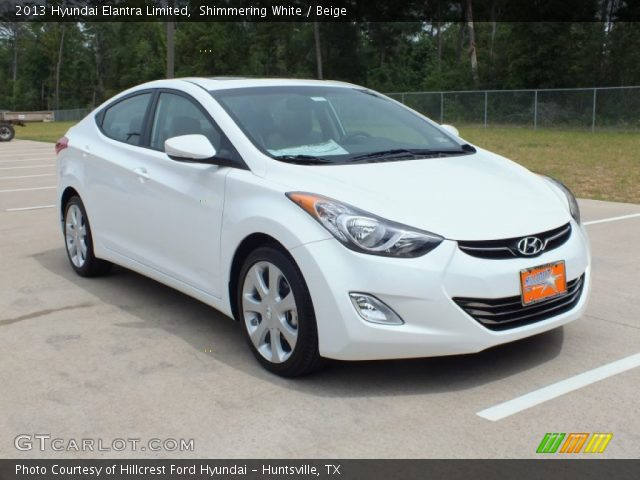 shimmering white 2013 hyundai elantra limited beige. Black Bedroom Furniture Sets. Home Design Ideas