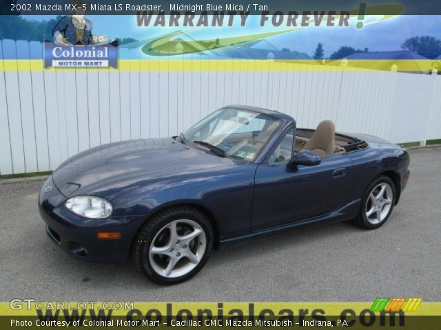 midnight blue mica 2002 mazda mx 5 miata ls roadster. Black Bedroom Furniture Sets. Home Design Ideas