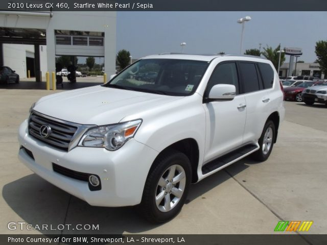 starfire white pearl 2010 lexus gx 460 sepia interior. Black Bedroom Furniture Sets. Home Design Ideas