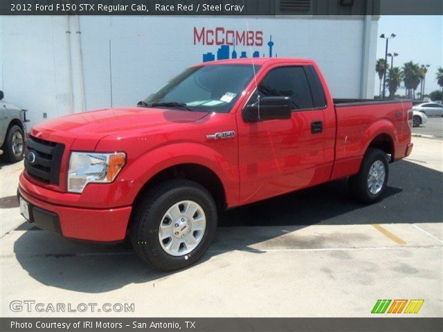race red 2012 ford f150 stx regular cab steel gray interior vehicle archive. Black Bedroom Furniture Sets. Home Design Ideas