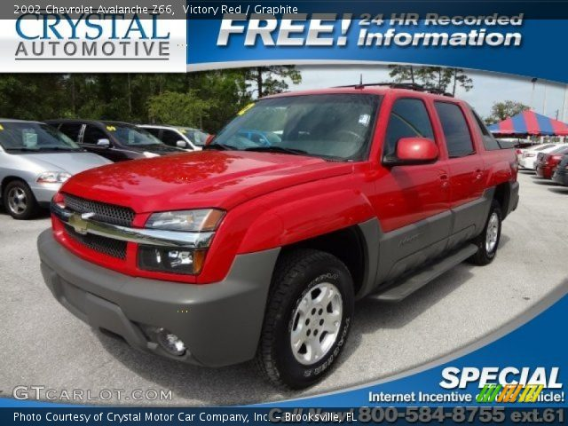 victory red 2002 chevrolet avalanche z66 graphite. Black Bedroom Furniture Sets. Home Design Ideas