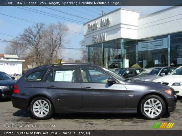 sparkling graphite metallic 2006 bmw 3 series 325xi wagon beige interior. Black Bedroom Furniture Sets. Home Design Ideas