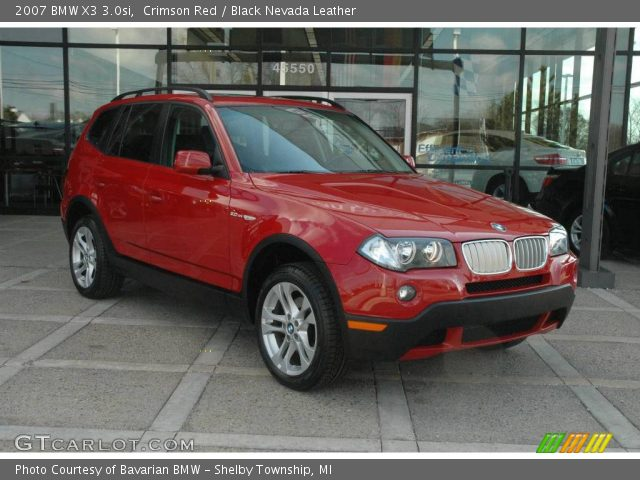 crimson red 2007 bmw x3 black nevada leather interior vehicle archive. Black Bedroom Furniture Sets. Home Design Ideas