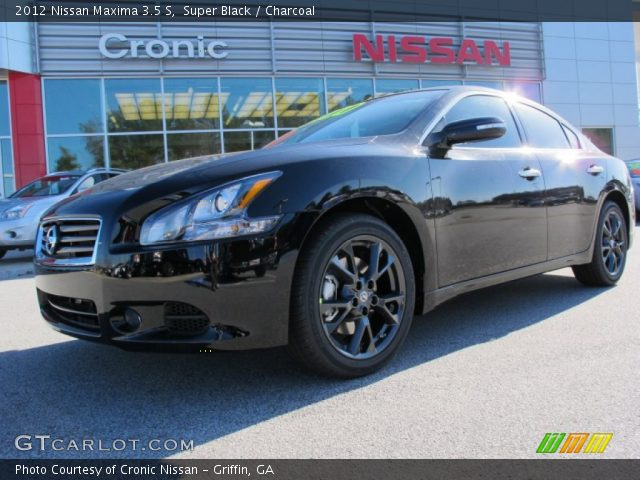 super black 2012 nissan maxima 3 5 s charcoal interior vehicle archive. Black Bedroom Furniture Sets. Home Design Ideas