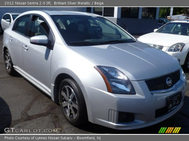 brilliant silver metallic 2012 nissan sentra 2 0 sr beige interior vehicle. Black Bedroom Furniture Sets. Home Design Ideas