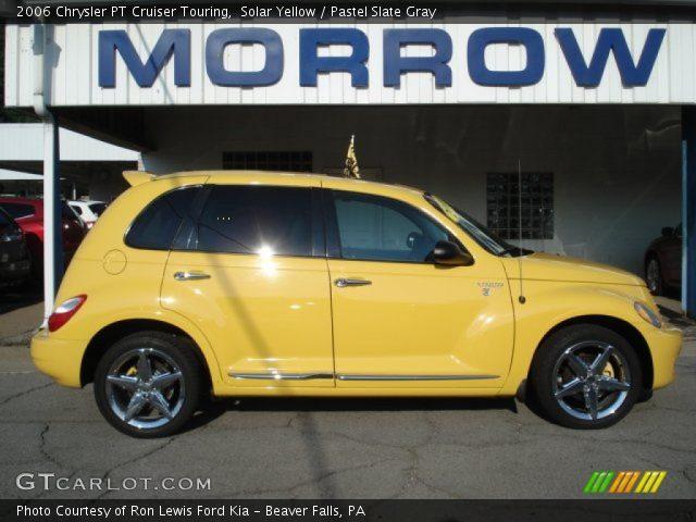 solar yellow 2006 chrysler pt cruiser touring pastel slate gray interior. Black Bedroom Furniture Sets. Home Design Ideas
