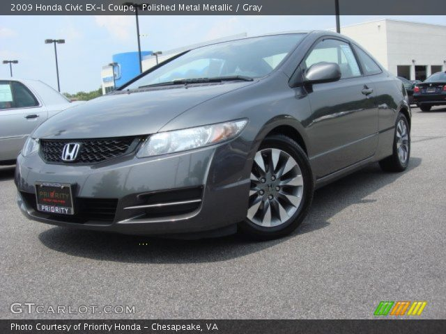 polished metal metallic 2009 honda civic ex l coupe gray interior vehicle. Black Bedroom Furniture Sets. Home Design Ideas