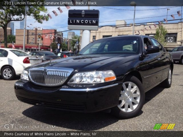 black 2011 lincoln town car signature limited black interior vehicle. Black Bedroom Furniture Sets. Home Design Ideas