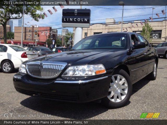 Black 2011 Lincoln Town Car Signature Limited Black Interior Vehicle