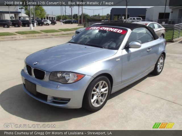 blue water metallic 2008 bmw 1 series 128i convertible taupe interior. Black Bedroom Furniture Sets. Home Design Ideas