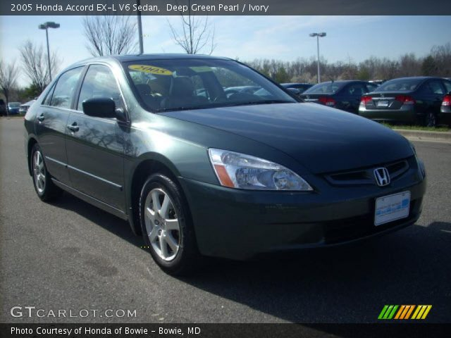 deep green pearl 2005 honda accord ex l v6 sedan ivory. Black Bedroom Furniture Sets. Home Design Ideas