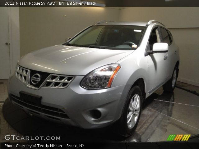 Brilliant Silver 2012 Nissan Rogue Sv Awd Black