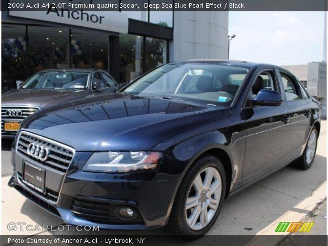 Audi a4 2009 Blue 2009 Audi a4 2 0t Premium