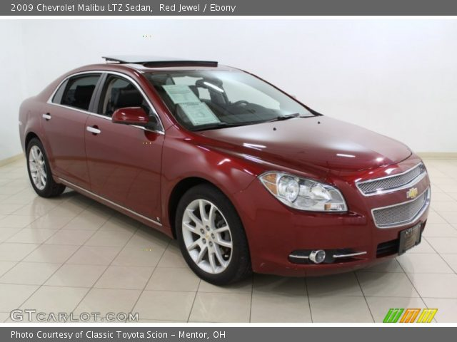 red jewel 2009 chevrolet malibu ltz sedan ebony. Black Bedroom Furniture Sets. Home Design Ideas