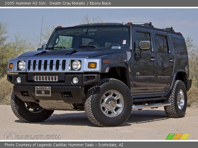 Stealth Gray Metallic 2005 Hummer H2 Suv Ebony Black Interior