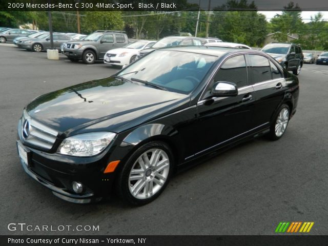 Black 2009 mercedes benz c 300 4matic sport black for 2009 mercedes benz c 300