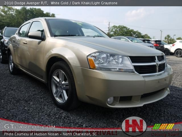 white gold 2010 dodge avenger r t dark khaki light. Black Bedroom Furniture Sets. Home Design Ideas