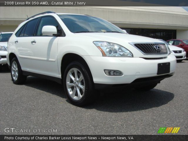 crystal white 2008 lexus rx 350 awd ivory interior vehicle archive 67713054. Black Bedroom Furniture Sets. Home Design Ideas