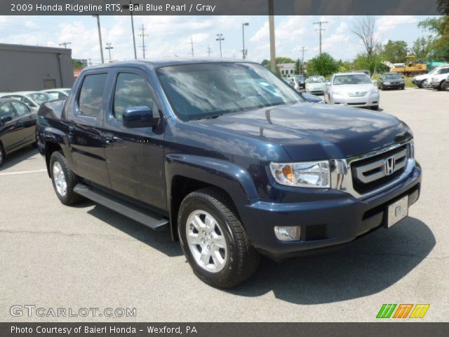 bali blue pearl 2009 honda ridgeline rts gray interior. Black Bedroom Furniture Sets. Home Design Ideas
