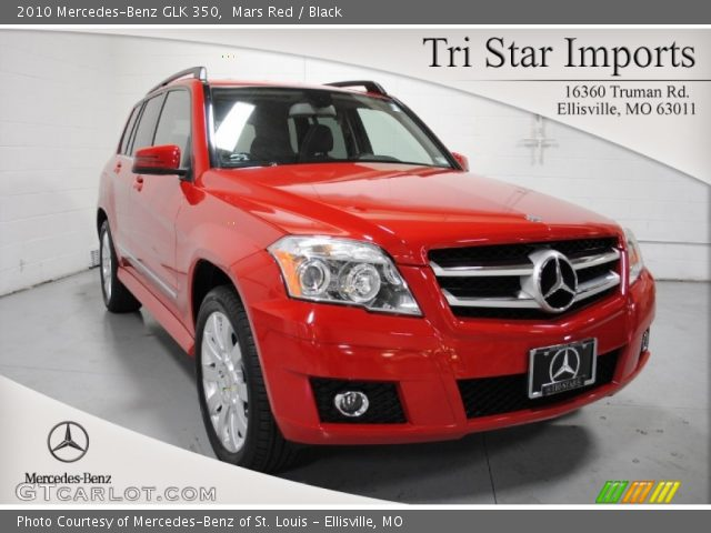Mars Red 2010 Mercedes Benz Glk 350 Black Interior