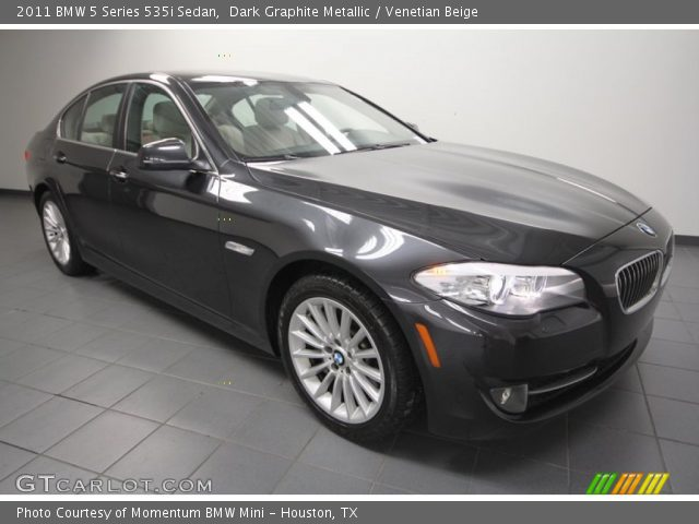 dark graphite metallic 2011 bmw 5 series 535i sedan venetian beige interior. Black Bedroom Furniture Sets. Home Design Ideas