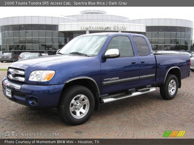 spectra blue mica 2006 toyota tundra sr5 access cab dark gray interior. Black Bedroom Furniture Sets. Home Design Ideas