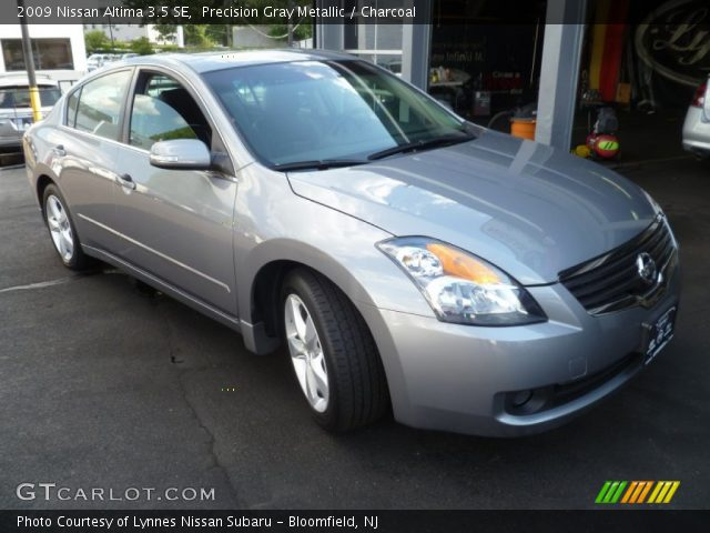precision gray metallic 2009 nissan altima 3 5 se charcoal interior vehicle. Black Bedroom Furniture Sets. Home Design Ideas