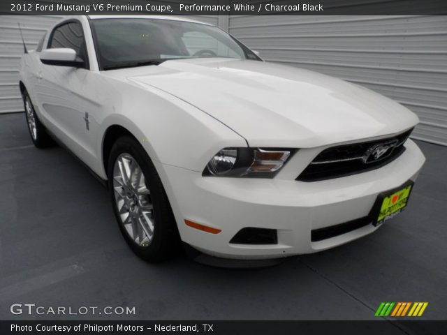 performance white 2012 ford mustang v6 premium coupe. Black Bedroom Furniture Sets. Home Design Ideas