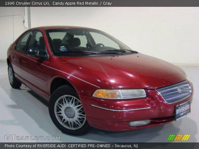 Candy Apple Red Metallic - 1996 Chrysler Cirrus LXi - Gray Interior ...