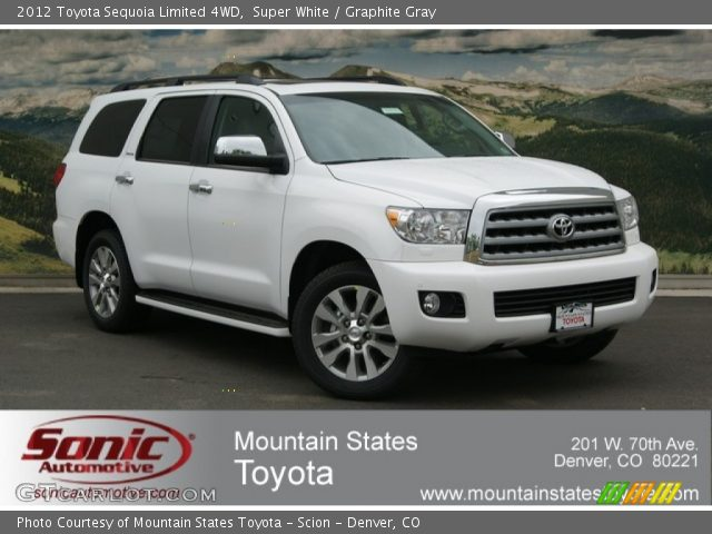 super white 2012 toyota sequoia limited 4wd graphite. Black Bedroom Furniture Sets. Home Design Ideas