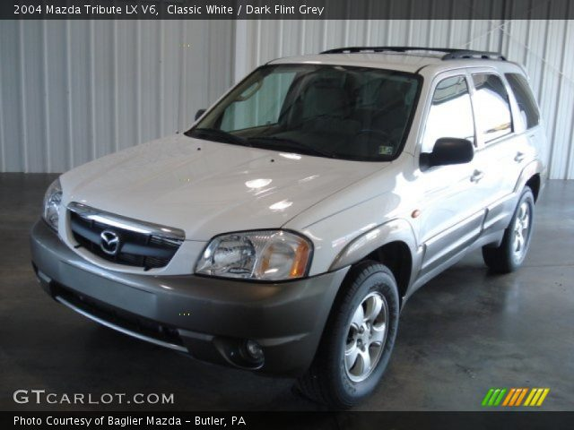 classic white 2004 mazda tribute lx v6 dark flint grey. Black Bedroom Furniture Sets. Home Design Ideas