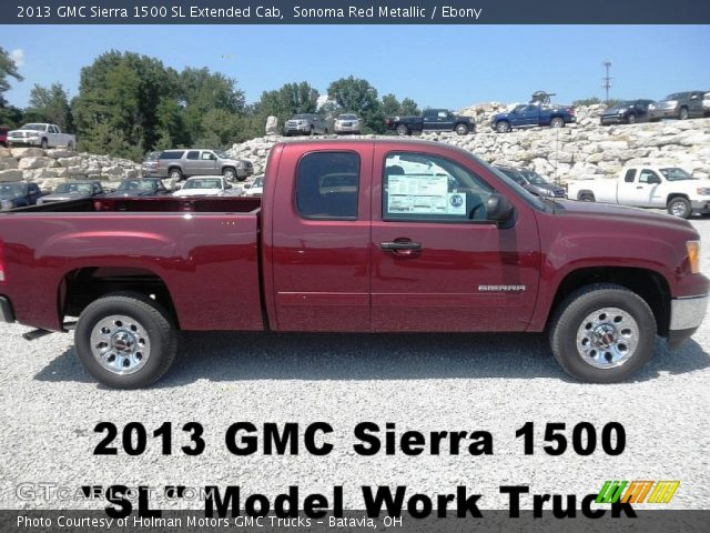2013 GMC Sierra 1500 SL Extended Cab in Sonoma Red Metallic