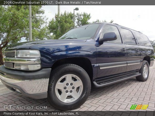 dark blue metallic 2004 chevrolet suburban 1500 lt tan. Black Bedroom Furniture Sets. Home Design Ideas