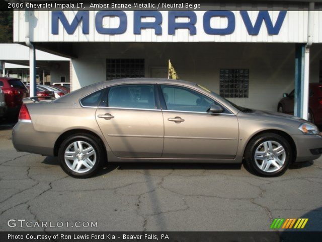 Amber Bronze Metallic 2006 Chevrolet Impala Lt Neutral Beige Interior