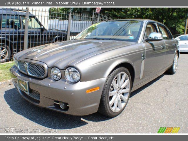 vapour grey 2009 jaguar xj vanden plas champagne mocha interior vehicle. Black Bedroom Furniture Sets. Home Design Ideas