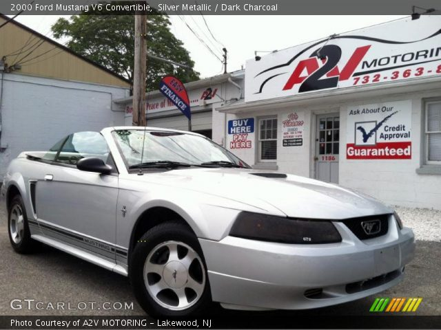 silver metallic 2000 ford mustang v6 convertible dark. Black Bedroom Furniture Sets. Home Design Ideas