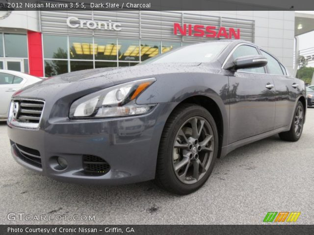 dark slate 2012 nissan maxima 3 5 s charcoal interior vehicle archive 67961806. Black Bedroom Furniture Sets. Home Design Ideas