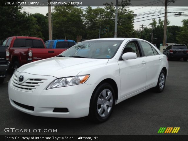 super white 2009 toyota camry le bisque interior. Black Bedroom Furniture Sets. Home Design Ideas