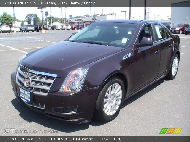 black cherry 2010 cadillac cts 3 0 sedan ebony. Black Bedroom Furniture Sets. Home Design Ideas