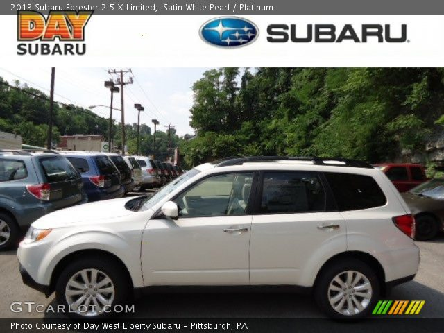 satin white pearl 2013 subaru forester 2 5 x limited platinum interior. Black Bedroom Furniture Sets. Home Design Ideas