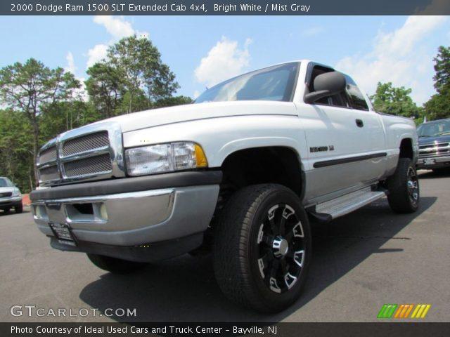 Bright White 2000 Dodge Ram 1500 Slt Extended Cab 4x4 Mist Gray Interior