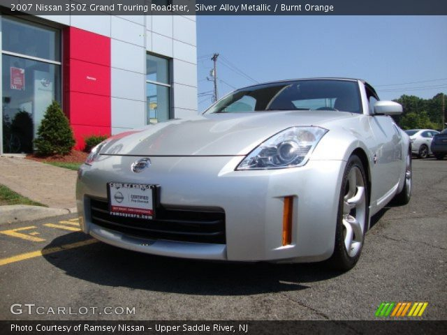 silver alloy metallic 2007 nissan 350z grand touring roadster burnt orange interior. Black Bedroom Furniture Sets. Home Design Ideas