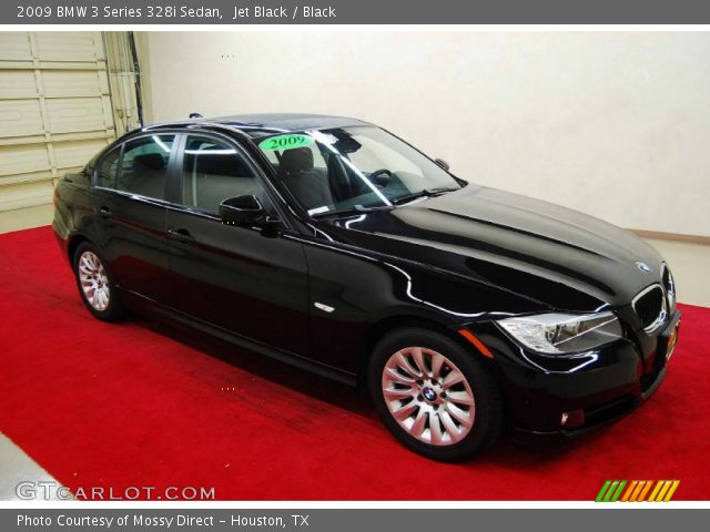 jet black 2009 bmw 3 series 328i sedan black interior vehicle archive 68152526. Black Bedroom Furniture Sets. Home Design Ideas
